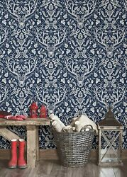 Peel And Stick Wallpaper Navy Forest Wall Furniture Sticker Contact Paper 30 Sq Ft
