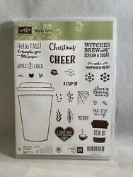 Merry Cafe Stamp Set Stampin Up Coffee Cup Christmas Cheer Perk Up Halloween