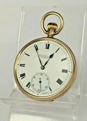 1920 9ct Gold Pocket Watch By Russells Liverpool Historical Boxing Provenance