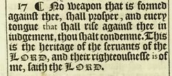 1611 King James Bible Leaf And039heand039 Edition - Is 54-57 - No Weapon ... Shall Prosper