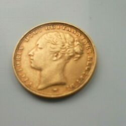 Full 22ct Gold Sovereign 1886 Melbourne Mint - Young Head