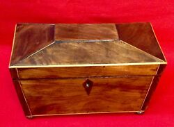 Antique Sarcophagus Tea Caddy, Late Georgian / Early Victorian, Lovely Condition