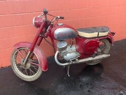 1950s/60and039s Vintage Collectible Jawa Motorcycle Only 8 Kilometers Rare