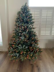 Balsam Hill 6.5' Bh Fraser Fir With Multicolored Led Lights Christmas Tree