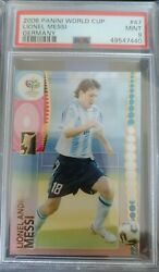 2006 Panini World Cup Germany Lionel Messi 47 Psa 9 Mint 1st World Cup Rc