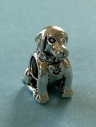 Detailed ALE Pandora Dog Pup Charm Sterling Silver 2.9 g 21 20