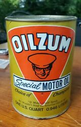 Oilzum Gold Can Special Motor Oil Full 1 Qt. Oil Can Sae 5w-20