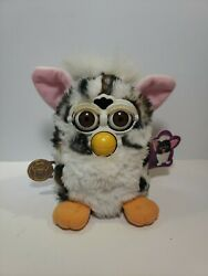 1998 Furby Leopard Brown Black Spots 70-800 With Tags Tested Works