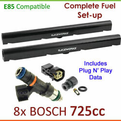 8x Bosch 725cc E85 Injectors And Fuelrail Setup For Holden Statesman Wl 5.7l Gen 3