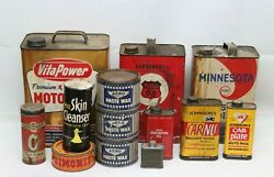 Vintage Oil Tin Cans