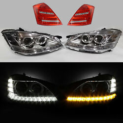 2010 2011 2012 2013 Mercedes S63 S Class Facelift For 06-09 Headlight+taillight