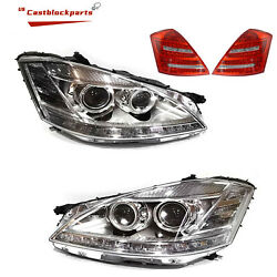 2010 2011 2012 2013 Mercedes S600 S Class Facelift For 06-09 Headlight+taillight