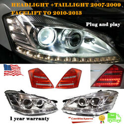 For 2010 2011 2012 2013 Mercedes S550 S Class Facelift Headlight+taillight 06-09