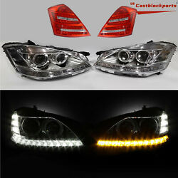 2010 2011 2012 2013 Mercedes S550 S Class Facelift Headlight Taillight For 06-09