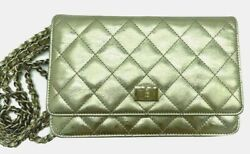Reissue Wallet On Chain Cross Body Clutch Bag Gold Leather