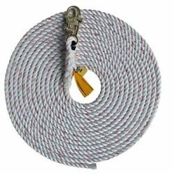 Capital Safety 1202821 Lifeline Rope With Snap Hook, 75 Ft