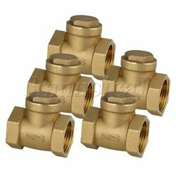 1 Brass Thread Female Bspp Swing Check Valve Dn25 With Id 32mm Set Of 5