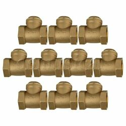 1 Brass Thread Female Bspp Swing Check Valve Dn25 With Id 32mm Set Of 10