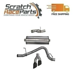 Corsa For Cadillac/gmc/chevy Cat-back Exhaust System Dual Side 14826blk 304 Ss
