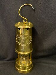 Vintage The Orvis Co Paraffin Brass Lantern Miners Coal Mining Made In Uk