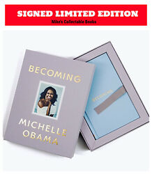 ✎✎signed 1/1 Deluxe Ltd✎✎ Becoming Michelle Obama Autographed Hb New / Sealed