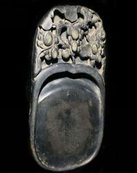 Exquisite Old Chinese Hand Carving Plum Blossom Duan Mark Ink Stone