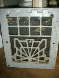 Vtg Cast Iron Heat Air Grate Wall Register 13x11 Wall Opening - Works Art Deco