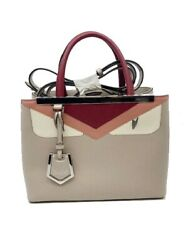 Fendi Petit Toujour Monster Calf Leather Red Pink Beige Gray Metal 8bh253 _40197