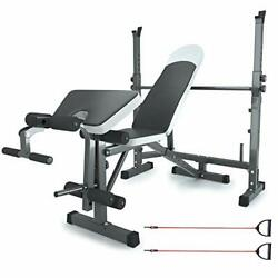 Adjustable Weight Bench Set For Full Body Workout, Multi-functional