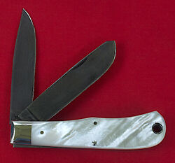 Remington Bullet Knife Mother-of Pearl And Damascus Blades Slip Joint