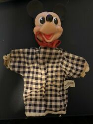 Disney 1950and039s Mickey Mouse Hand Puppet Mfg Gund