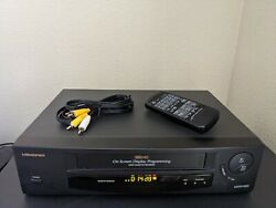 Memorex Mvr1020 Vcr Vhs Video Cassette Recorder W/remote Cables Refurbished