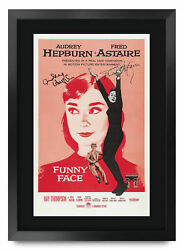 Funny Face A3 Framed Audrey Hepburn Fred Astaire Poster Signed Print Movie Fan