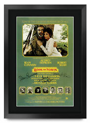 Robin And Marian A3 Framed Sean Connery Audrey Hepburn Poster Signed Movie Fans