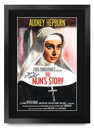The Nun's Story A3 Framed Audrey Hepburn Poster Signed Photo Print For Movie Fan