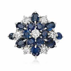 Vintage Sapphire And Diamond Ring In Platinum Size 5.75