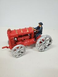 Ford Tractor Cast Mold Metal Collectible Farm Vehicle Toy Vintage Antique