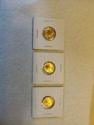 Three 1/10 Ounce American Eagle Gold Coins