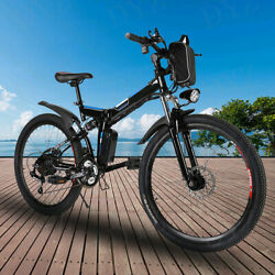 Foldable 26 36v 10.6ah_350w Electric Great Tire City E-bike Beach Bicycle Best