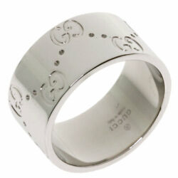 Icon Wide 10 Ring K18 White Gold Women 's Secondhand _9660