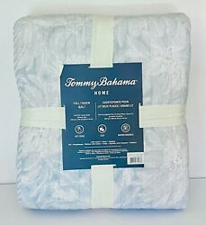 Tommy Bahama Queen Quilt Blue Palm Tree Design Hard to find NEW Palm Trees