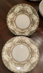 Minton Chatham Green Ivory Bread And Butter Plates Set/4