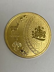 Rare 2015 50 Canada 1 Oz 999 Gold Coin Five Blessings Mintage 350 Only