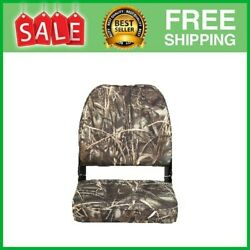 98395camo Low-back Padded Boat Seat Camo High-impact Plastic Frame