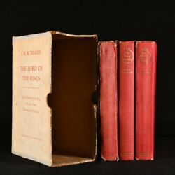 1961 3vol The Lord Of The Rings J R R Tolkien Early Printing Slipcase