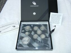 2013 U.s. Mint Limited Edition Silver Proof Set - Includes Eagle - All Silver