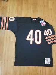 Chicago Bears Gale Sayers 1969 Genuine Mitchell Andness Throwback Jersey Size 48