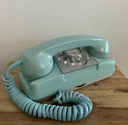 Vtg Automatic Electric Turquoise Princess Phone Type 182 Monophone Ringer Silent