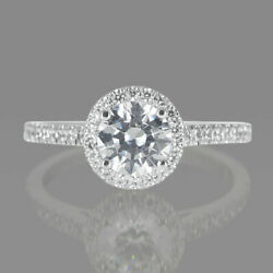 D/si1 Round Cut Diamond Engagement Ring 1.70 Ct 14k Rose Gold Classic