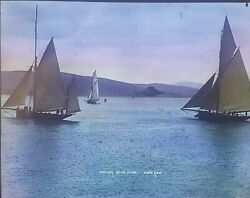 Yachting On The River Clyde, C1890's G.w.w. Magic Lantern Glass Slide